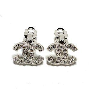 Classic Silver Swarovski Crystal Jewel Clip On CC